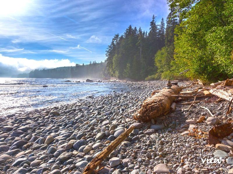 Juan de Fuca Park Trail on the west coast of Vancouver Island. Vancouver Island.