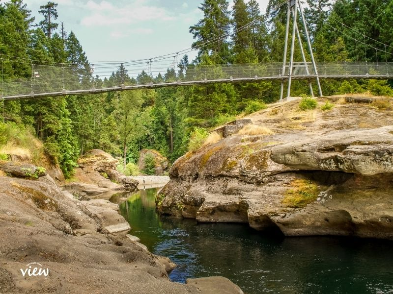Top Bridge is one of Parksville's best parks and trails. Vancouver Island View