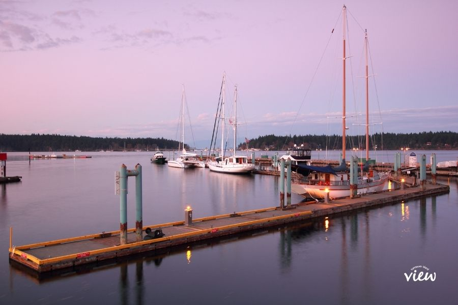 Nanaimo patio restaurants on the water. Vancouver Island View