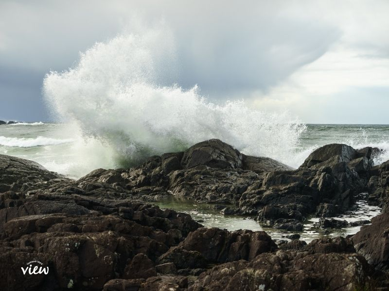 Tofino storm watching. Vancouver Island View